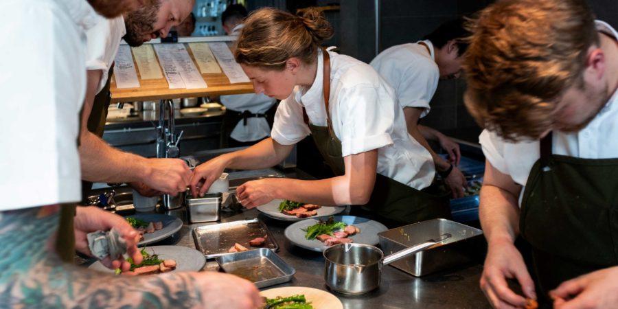 Estelle in Relæ Kitchen. Image credit: Luca Donninelli.